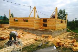 Выравнивание углов дома