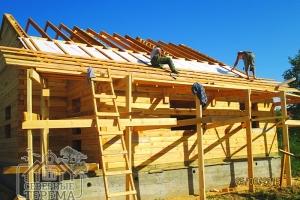 Дом из бруса 8х9 с терассой