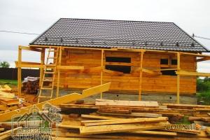 Дом 9х8 с терассой под усадку