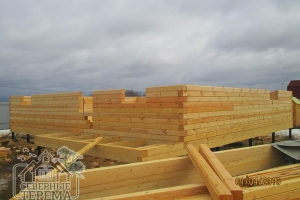 Строительство из зимнего леса ведется до апреля-мая каждого года