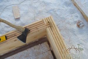 Монтаж углов конструкции стен в