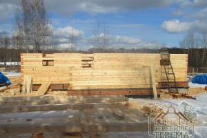 Строительство домов производится практически в любых погодных условиях