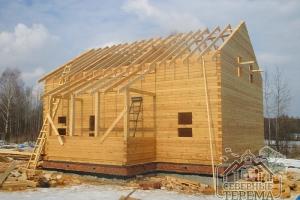 Крыша над террасой пойдет отдельным скатом, параллельно основному