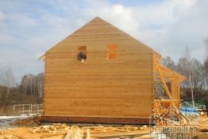 Вид со стороны левого торца здания, обработка уязвимых элементов