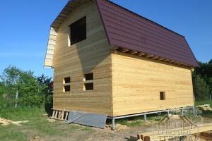 Дом из проф бруса с покрытием