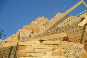 Строительство фронтонов крыши