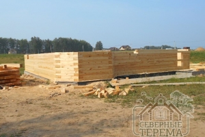 В проекте используется проф. брус размерами 145х195