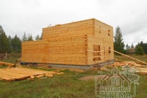 При строительстве используется проф.брус 145х195