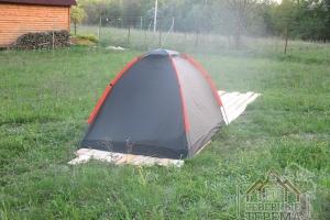 Палатка для проживания строительной бригады