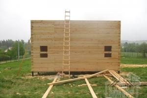 Далее строительные работы производятся при помощи лестницы