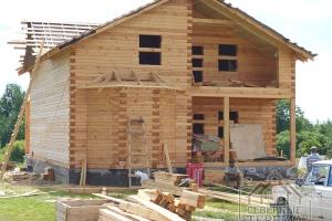 Хранение древесины на участке заказчика