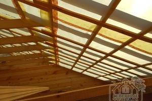 Обрешетка крыши, вид изнутри, 2 этаж