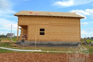 Проект дома из бруса, вид сбоку