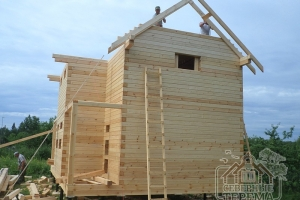 Начало обрешетки крыши
