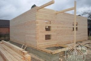 Вынос горизонтальных опор крыльца, для отдельной двухскатной крыши