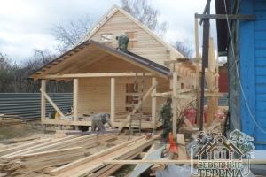 Покрытие крыши террасы третьего строящегося дома