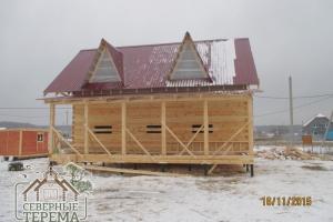 На свайно-винтовой фундамент строим дома в любое время года, включая морозы