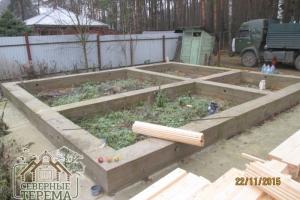 Готовый ленточный фундамент в соответствии с проектом дома