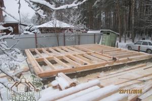Общий план закладного венца дома по проекту ДН-56