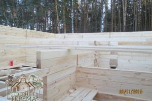 Внутренние перегородки дома из проф. бруса 150х100
