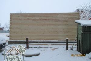 Вид внешней стены сзади дома. Геометрия соблюдена полностью