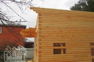 Вынос крыши деревянного дома согласно проекту