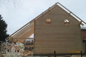 Вид с торца здания. Скоро начнем крыть крышу