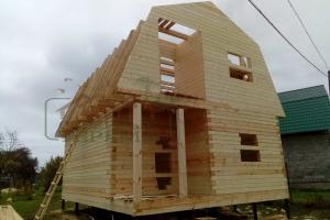 Дом из профилированного бруса 6х9 с мансардой