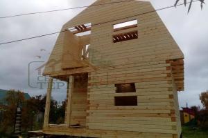 дом из профилированного бруса 145х145 с мансардой