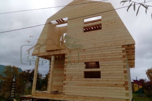 Дом из профильного бруса 6х9 мм