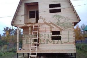 Дом из профилированного бруса под усадку