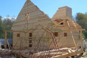 Дом с террасой из проф бруса