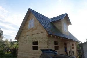 Дом под усадку из проф бруса 145х145 м