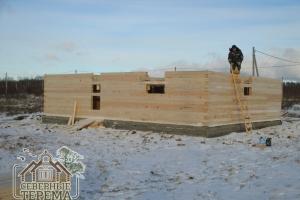 Мы собираем деревянные дома в любое время года, от жары до морозов