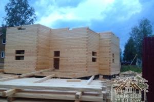 Вынос крыльца деревянного дома