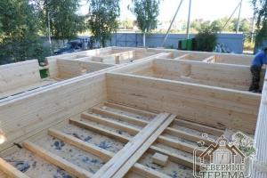 Строительство перегородок, уже можно увидеть контуры помещений