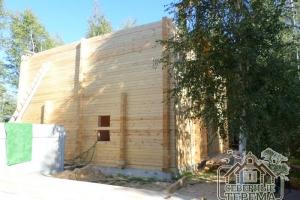 Дом из профилированного бруса по проекту ДУ-45