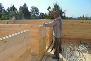 Установка деревянных нагелей