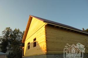 Собранный дом из профилированного бруса по проекту Заказчика