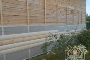 Внешнее утепление стены дома из профилированного бруса