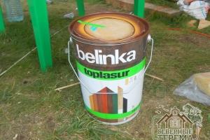 Обрабатываем раствором Belinka Toplasur