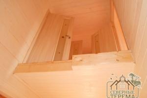 Вид с 1 этажа на 2, лестница будет позже