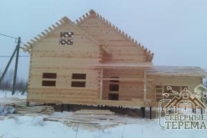 Дом из проф бруса на свайном фундаменте