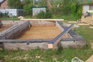 Вид на фундамент по проекту дома