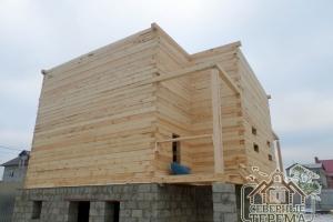 2 этажный дом из бруса