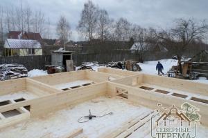 Внутренние перегородки брусового дома согласно проекту