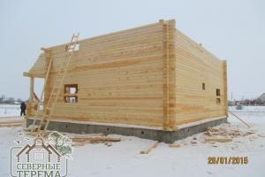 image46Строительство двухэтажного дома из профилированного бруса 150х200