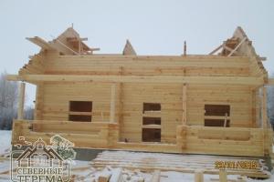 Вид на строительство с центральной части