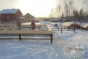 Строим дом из профилированного бруса 150х200 в зимний период