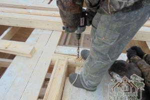 Засверливание для установки деревянного нагеля